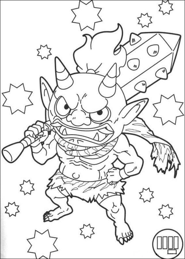 disegni da colorare disegni da colorare yōkai stampabile