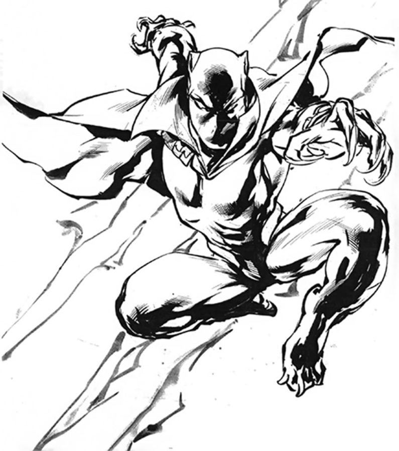 Coloring Pages Coloring Pages Black Panther Printable For Kids Adults Free