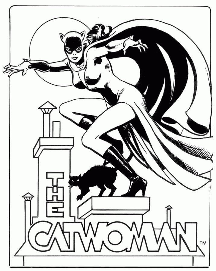 Coloring Pages Coloring Pages Catwoman Printable For Kids Adults Free