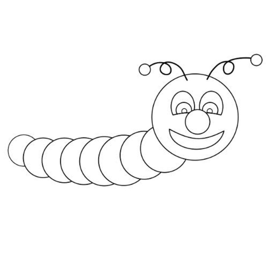 Ausmalbilder: Ausmalbilder: Regenwürmer zum ausdrucken, kostenlos
