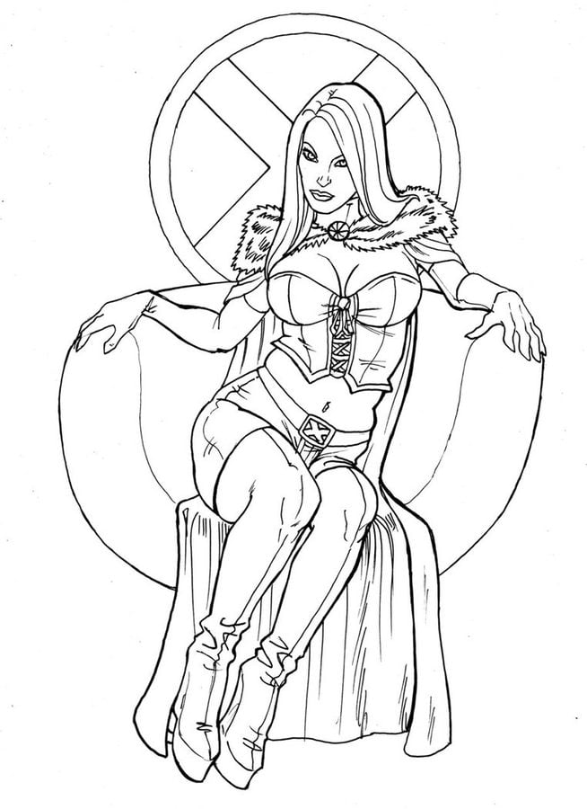 Coloring Pages Emma Frost Printable For Kids Amp Adults Free