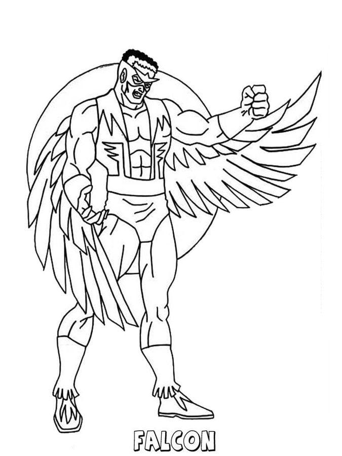 Disegni Da Colorare Disegni Da Colorare Falcon Stampabile