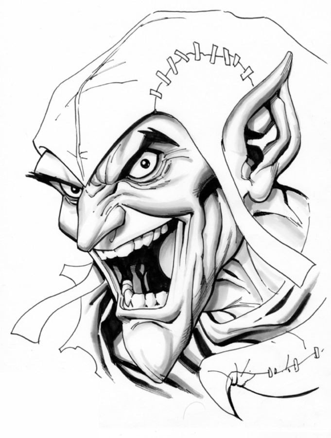 Coloring pages: Coloring pages: Green Goblin, printable