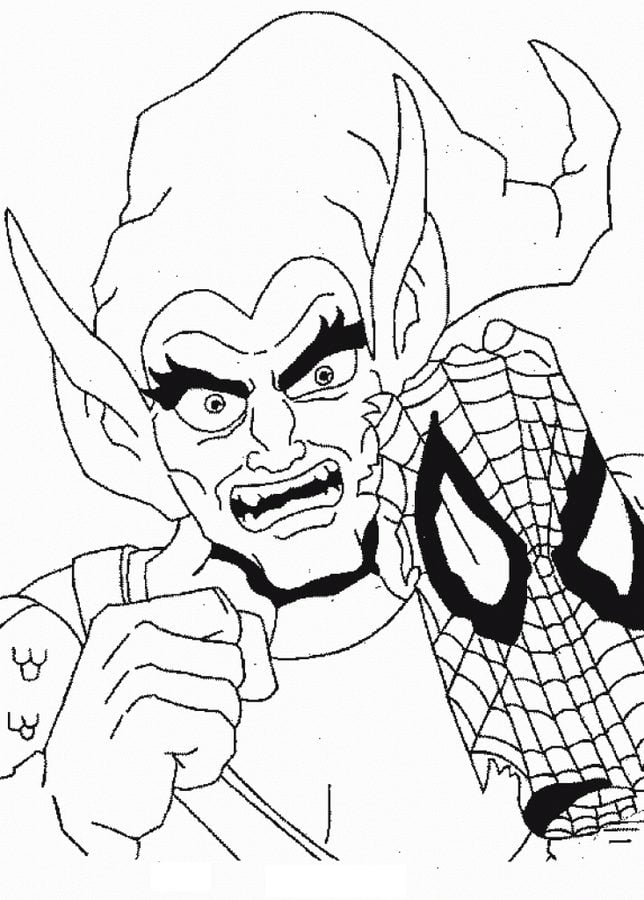 coloring pages coloring pages green goblin printable