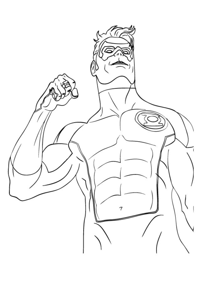 Coloring Pages Coloring Pages Green Lantern Printable For Kids Adults Free