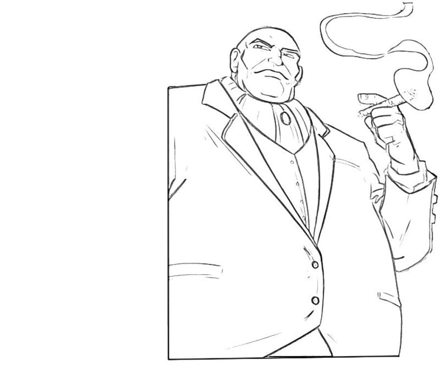 Coloring Pages Coloring Pages Kingpin Wilson Fisk