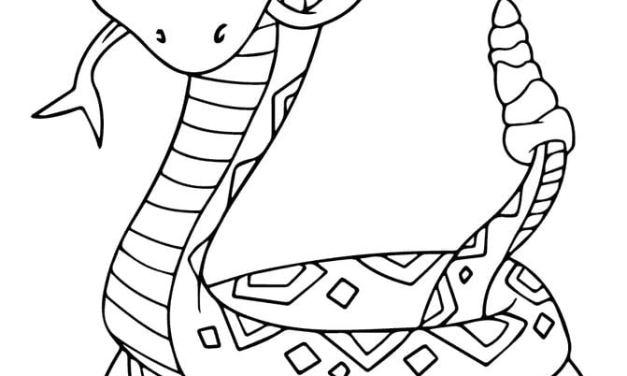 Ausmalbilder: Klapperschlange