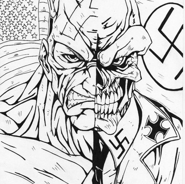 Coloring pages: Red Skull
