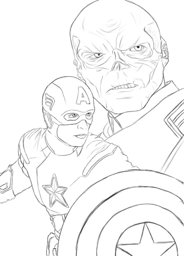 Coloring pages: Red Skull Coloring pages Comics Marvel