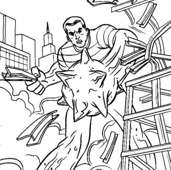Dibujos Para Colorear Hombre De Arena Imprimible Gratis