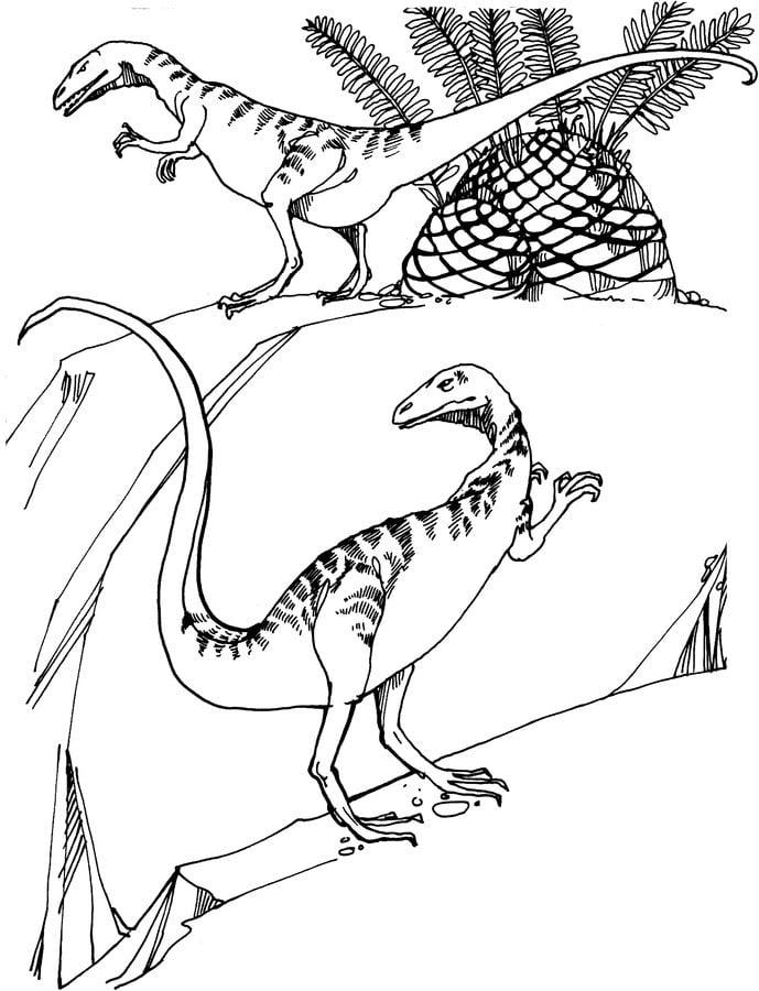 ausmalbilder ausmalbilder saurischian dinosaurier zum