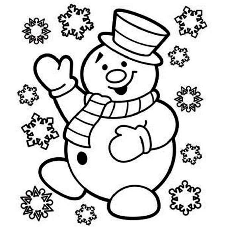 Ausmalbilder: Ausmalbilder: Schneemann zum ausdrucken, kostenlos