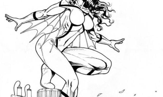 Ausmalbilder: Spider-Woman