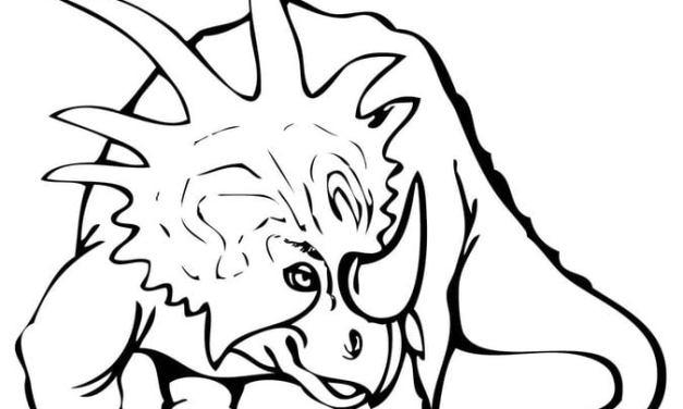Ausmalbilder: Styracosaurus