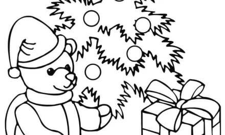 Ausmalbilder: Teddybär