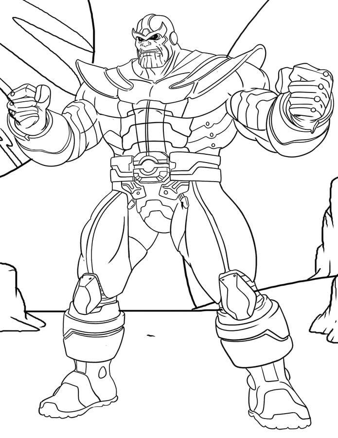 Coloriage A Imprimer Thanos.Coloriages Thanos Imprimable Gratuit Pour Les Enfants Et