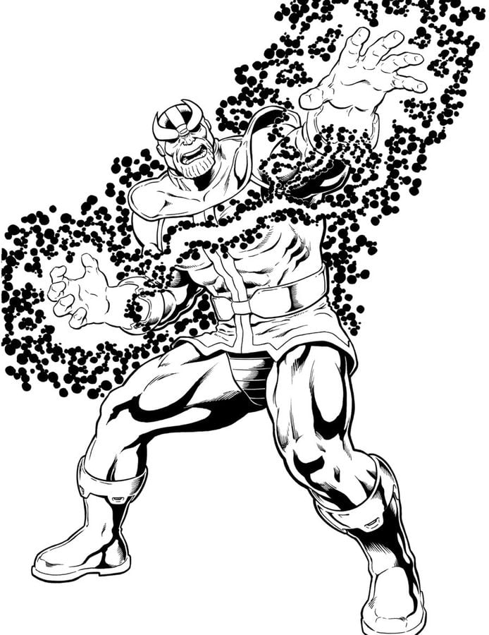 Dibujos para colorear: Thanos imprimible, gratis, para los