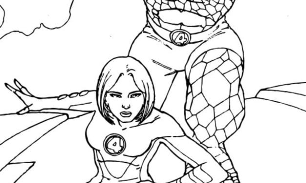 Coloring pages: Invisible Woman