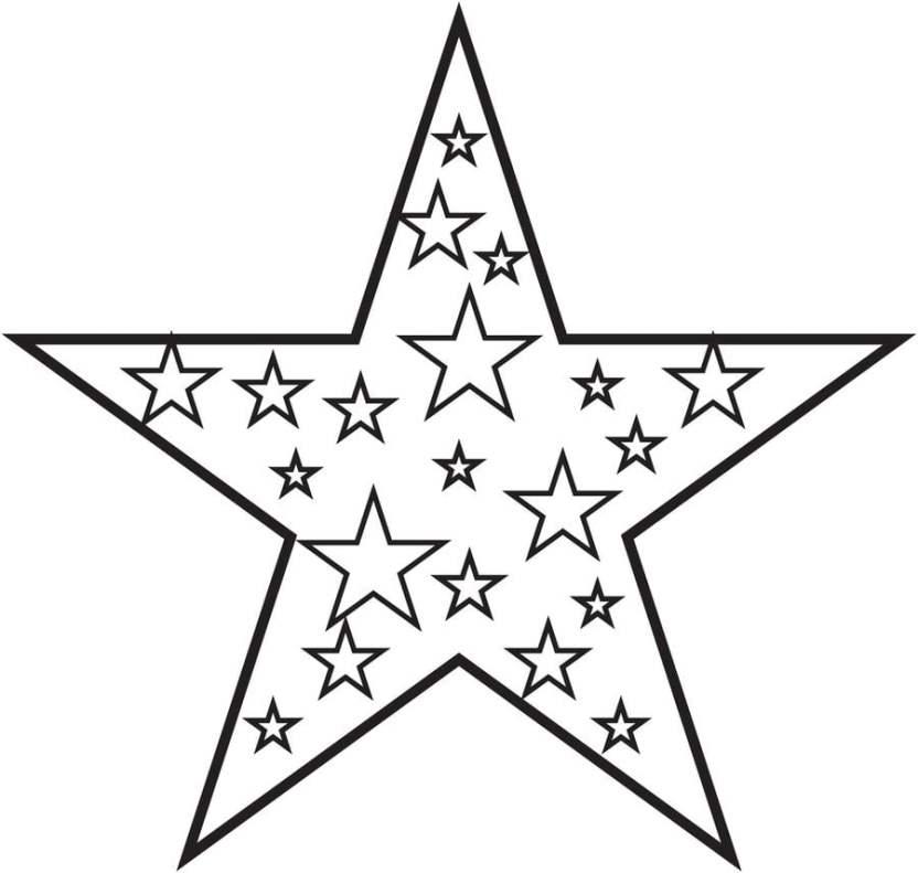 Dibujos Para Colorear Estrella Imprimible Gratis Para Los