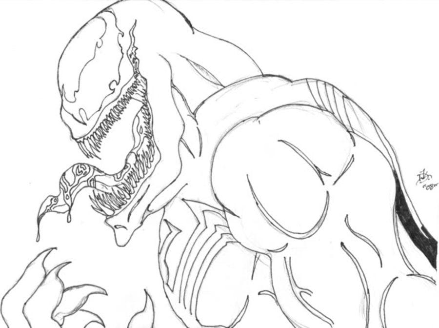 Ausmalbilder: Ausmalbilder: Venom zum ausdrucken