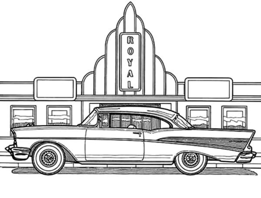 Coloring Pages Coloring Pages Cadillac Printable For