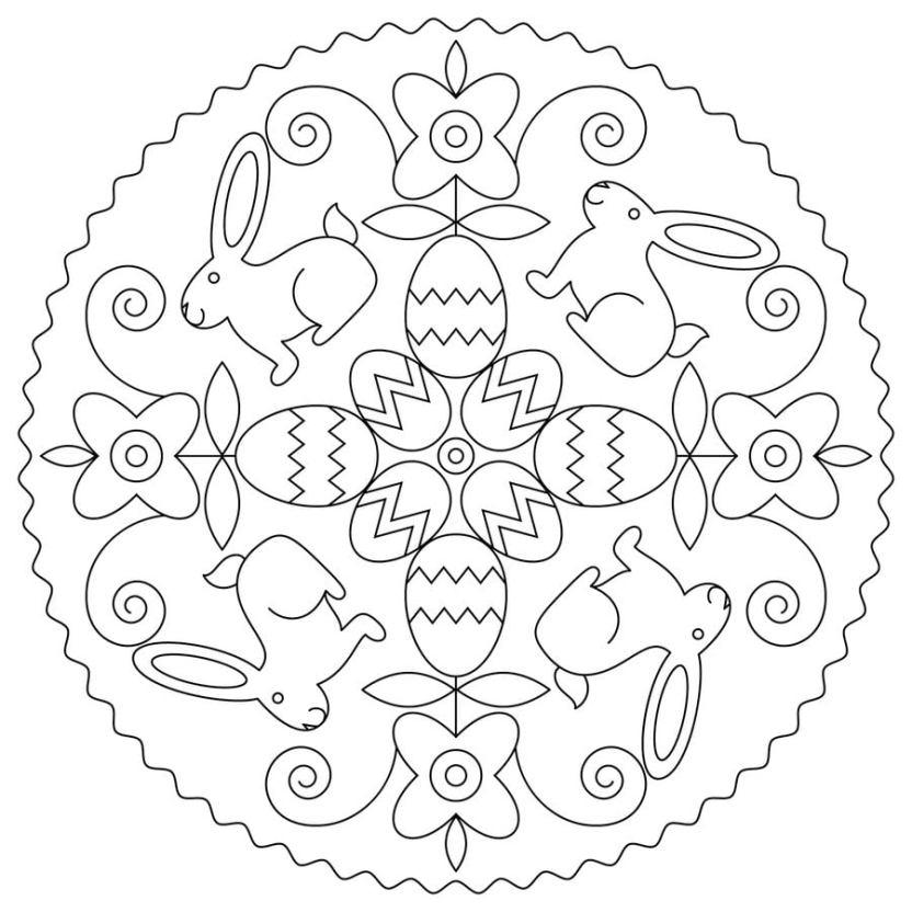 oster mandala zum ausdrucken  vorlagen zum ausmalen