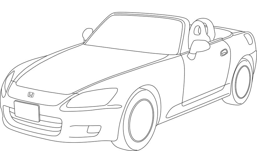 73 Coloring Pages Honda Cars Images & Pictures In HD