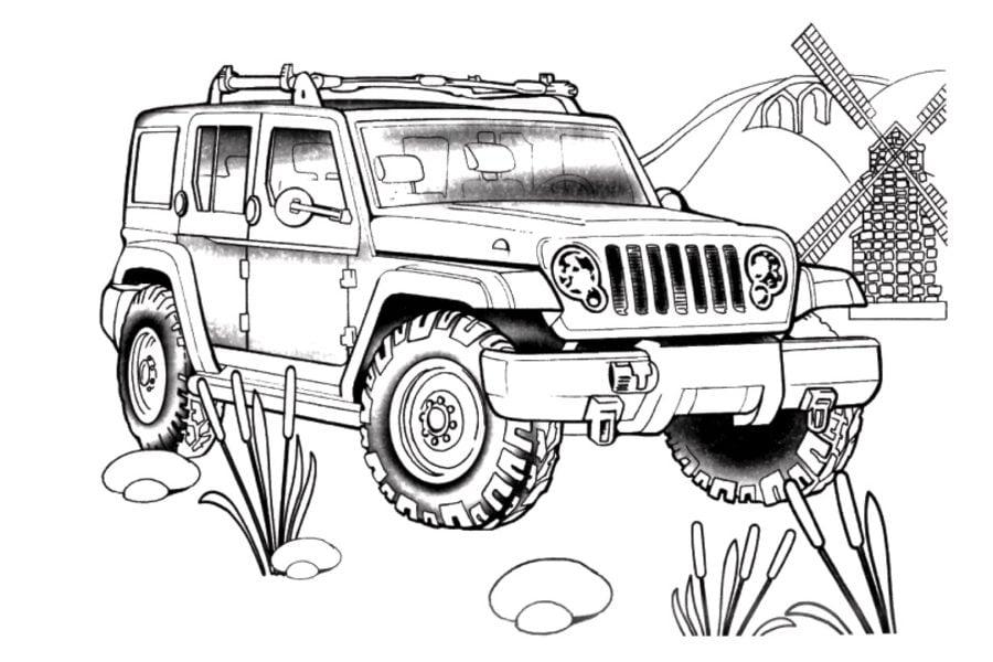 Disegni Da Colorare Disegni Da Colorare Jeep Stampabile