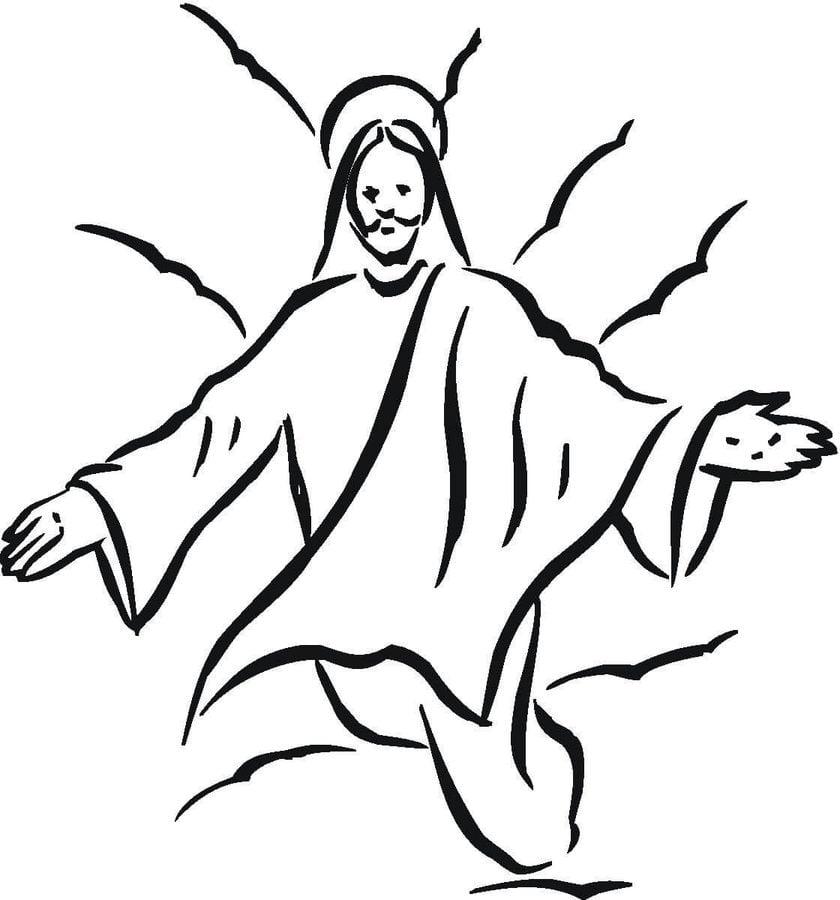 ausmalbilder ausmalbilder jesus' auferstehung zum