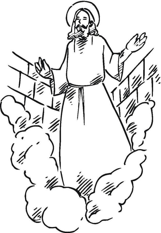 Kolorowanki: Zmartwychwstanie Jezusa Kolorowanki Święta Wielkanoc