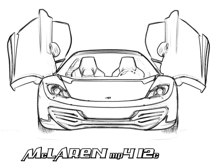 Coloring pages: Coloring pages: McLaren, printable for