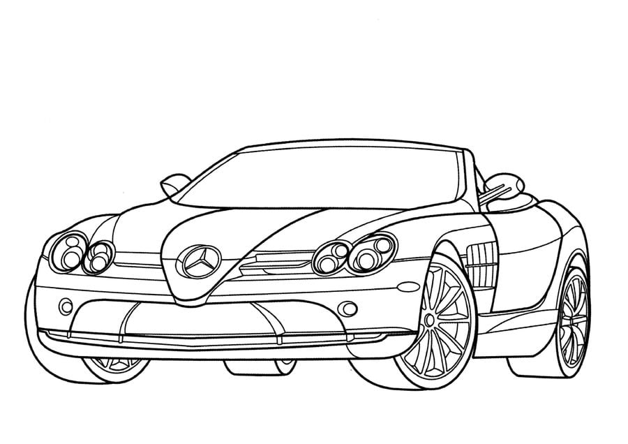 Coloring pages: Coloring pages: Mercedes, printable for