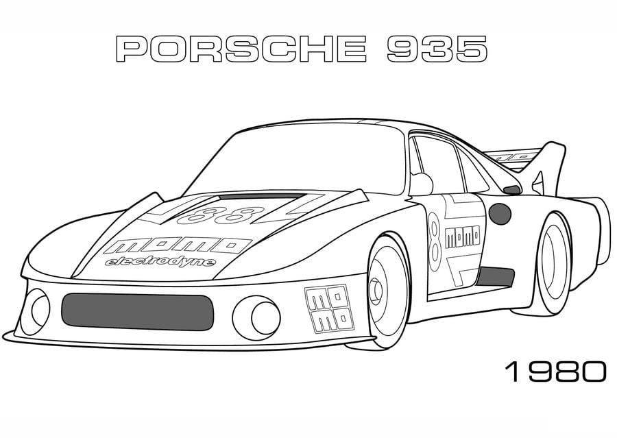 Ausmalbilder Ausmalbilder Porsche Zum Ausdrucken Kostenlos Fur Kinder Und Erwachsene