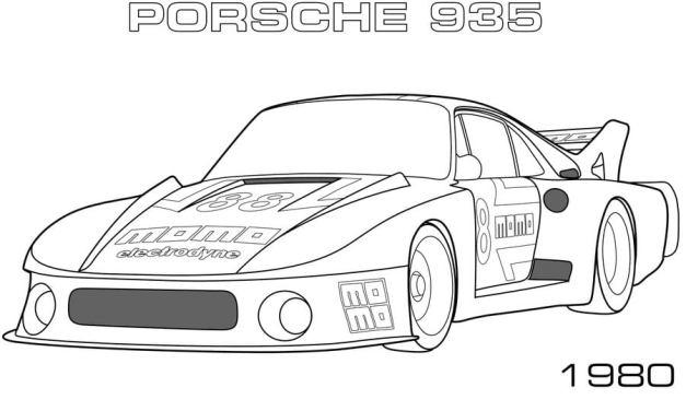 Ausmalbilder: Porsche