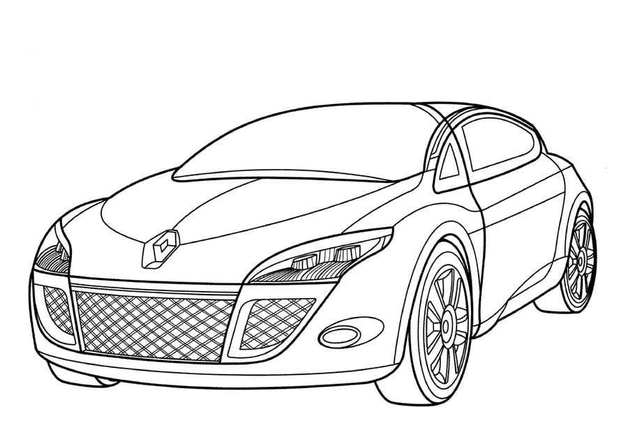 coloring pages coloring pages renault printable for