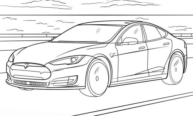 Ausmalbilder: Tesla
