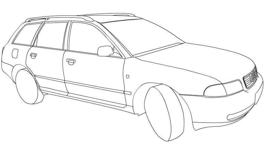 Ausmalbilder: Ausmalbilder: Audi zum ausdrucken, kostenlos ...