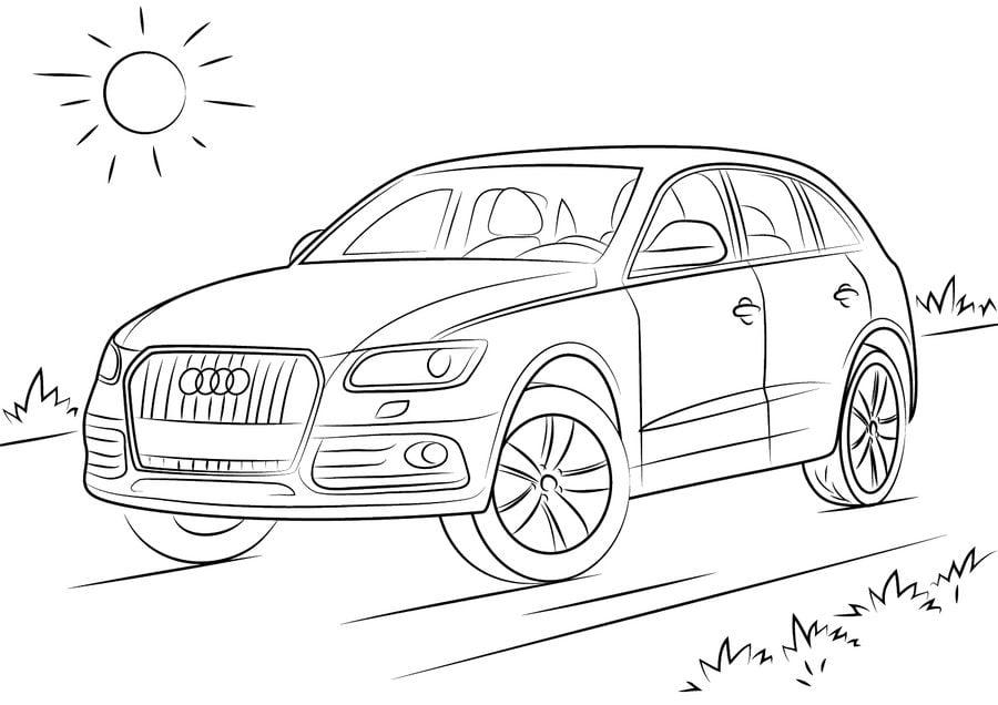 Audi Coches Dibujos para colorear Transporte