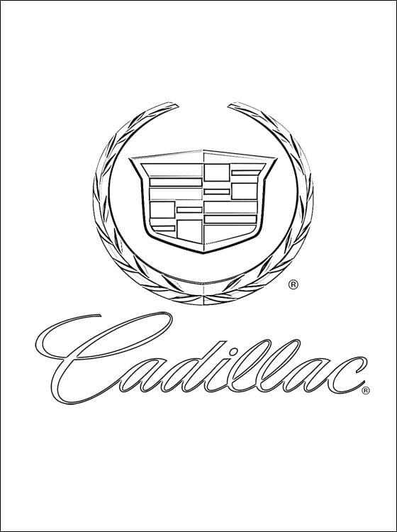 Coloring pages: Coloring pages: Cadillac - logo, printable ...