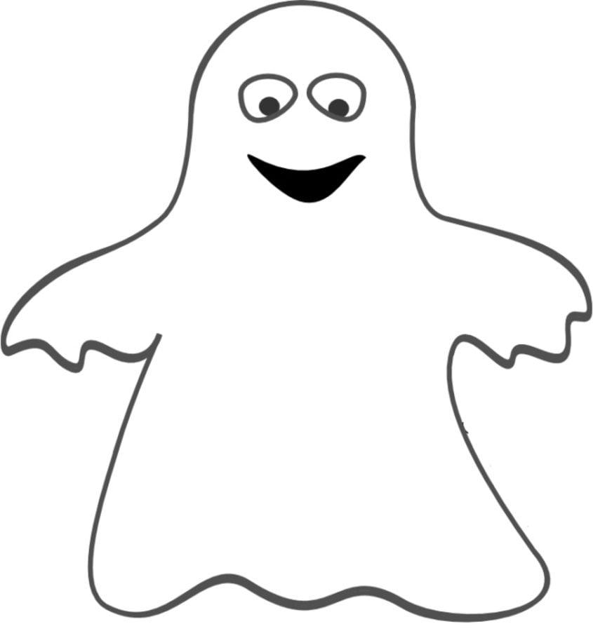 Dibujos Para Colorear Fantasma Imprimible Gratis Para Los Niños Y