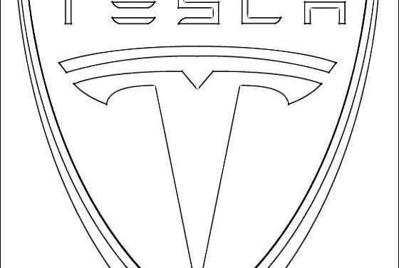 Coloring pages: Tesla – logo
