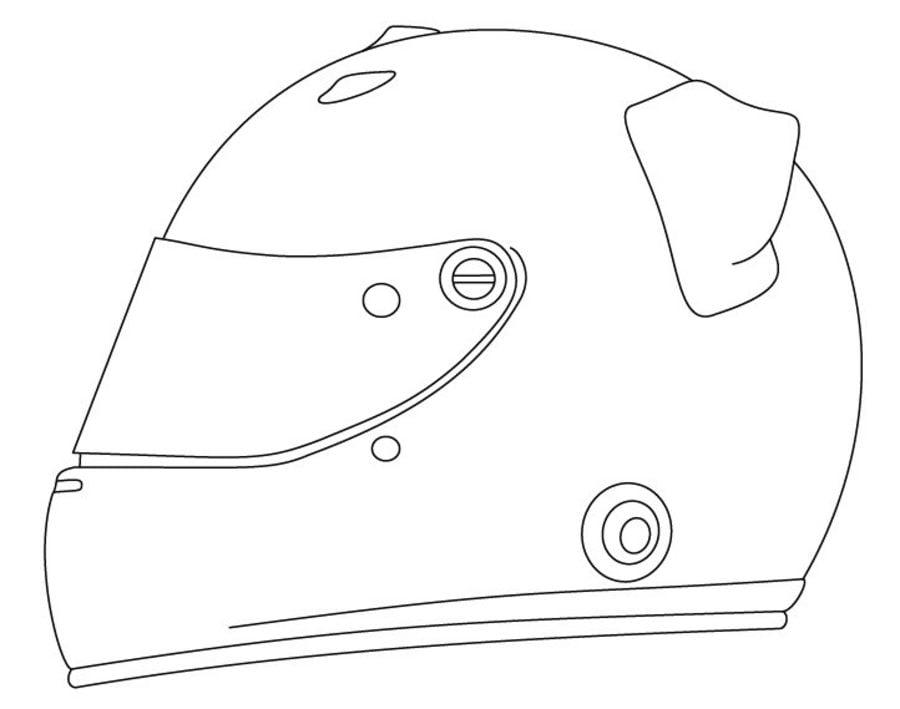 Casque de moto Coloriages Motos Transports