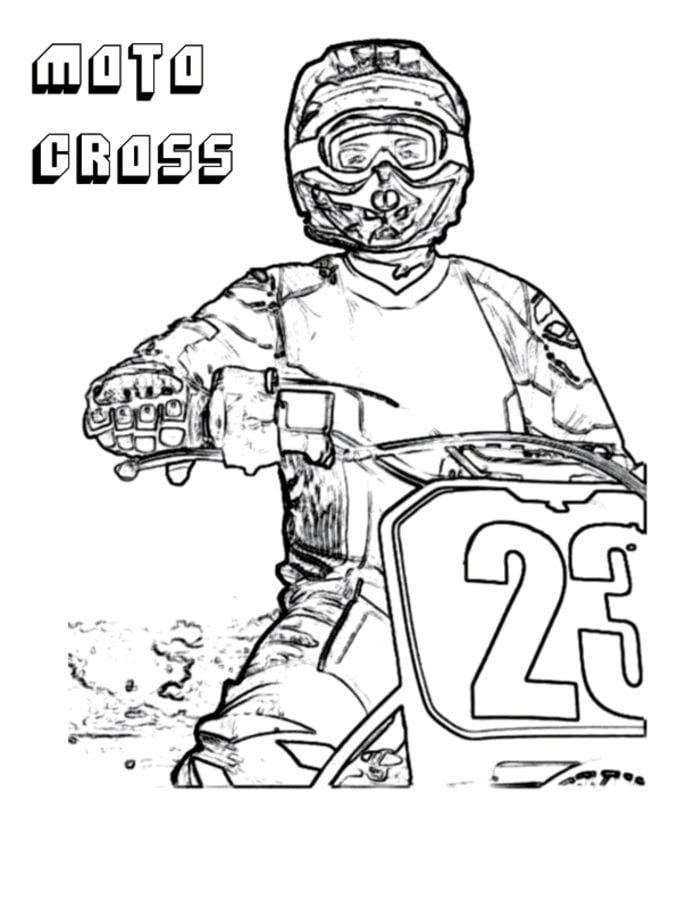 Coloring Pages: Coloring Pages: Motocross, Printable For Kids & Adults, Free