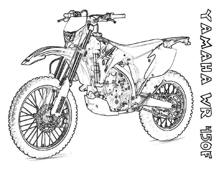 Ausmalbilder Yamaha Zum