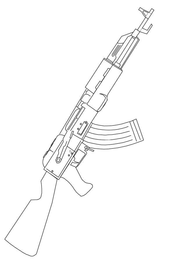 Ausmalbilder Maschinengewehr Zum Ausdrucken Kostenlos
