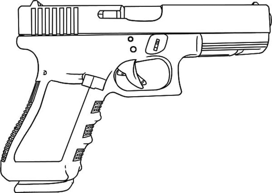 Dibujos Para Colorear Pistola Imprimible Gratis Para Los