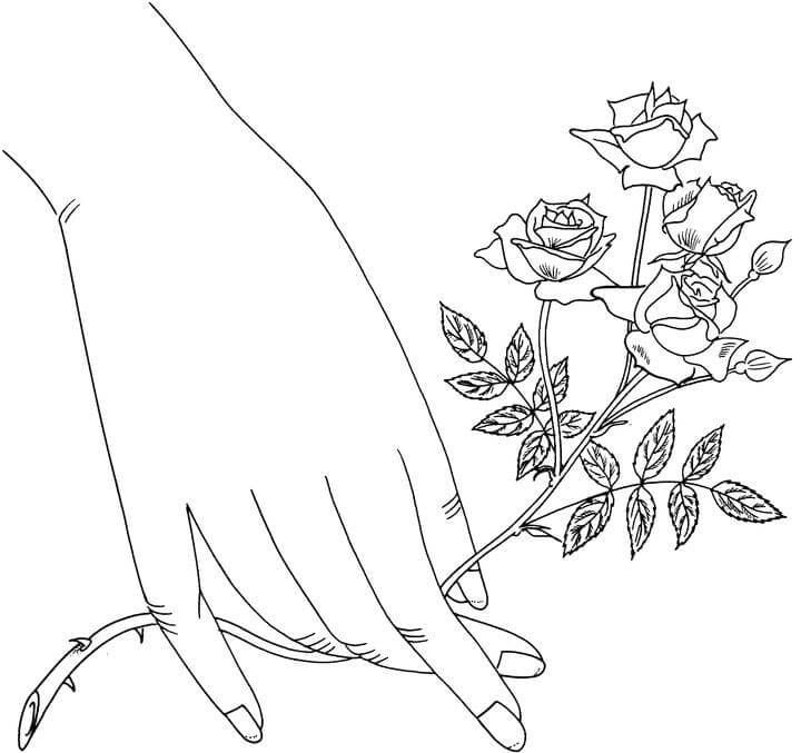 Coloring Pages Coloring Pages Rose Printable For Kids Adults Free To Download