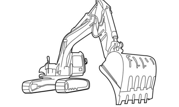 Coloring pages: Construction trucks