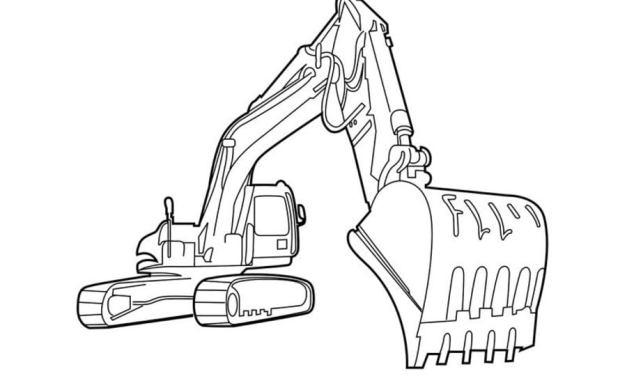 Ausmalbilder: Baufahrzeuge