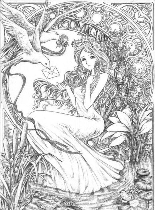 ausmalbilder für erwachsene fantasy zum ausdrucken kostenlos
